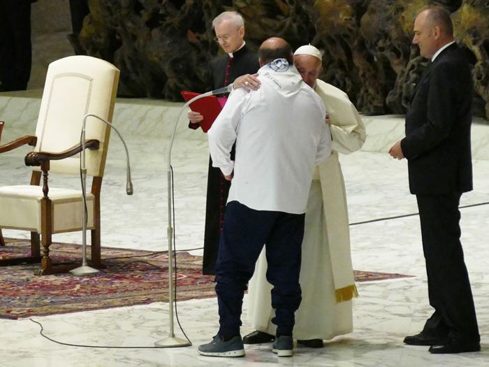 Il Papa alla Fondazione: «Non stancatevi di servire gli ultimi e i fragili»